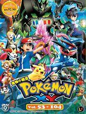 DVD Pokemon : XY Vol. 53 - 104 with Eng Sub Free Ship DVD9