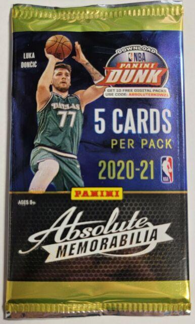 2020-2021 Panini Absolute Memorabilia NBA Basketball Cards 1 Pack *****