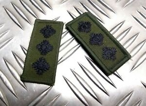 Genuine-Vintage-British-Army-OD-Green-Subdued-CAPTAIN-Rank-Tab-Patch-1PR-NEW