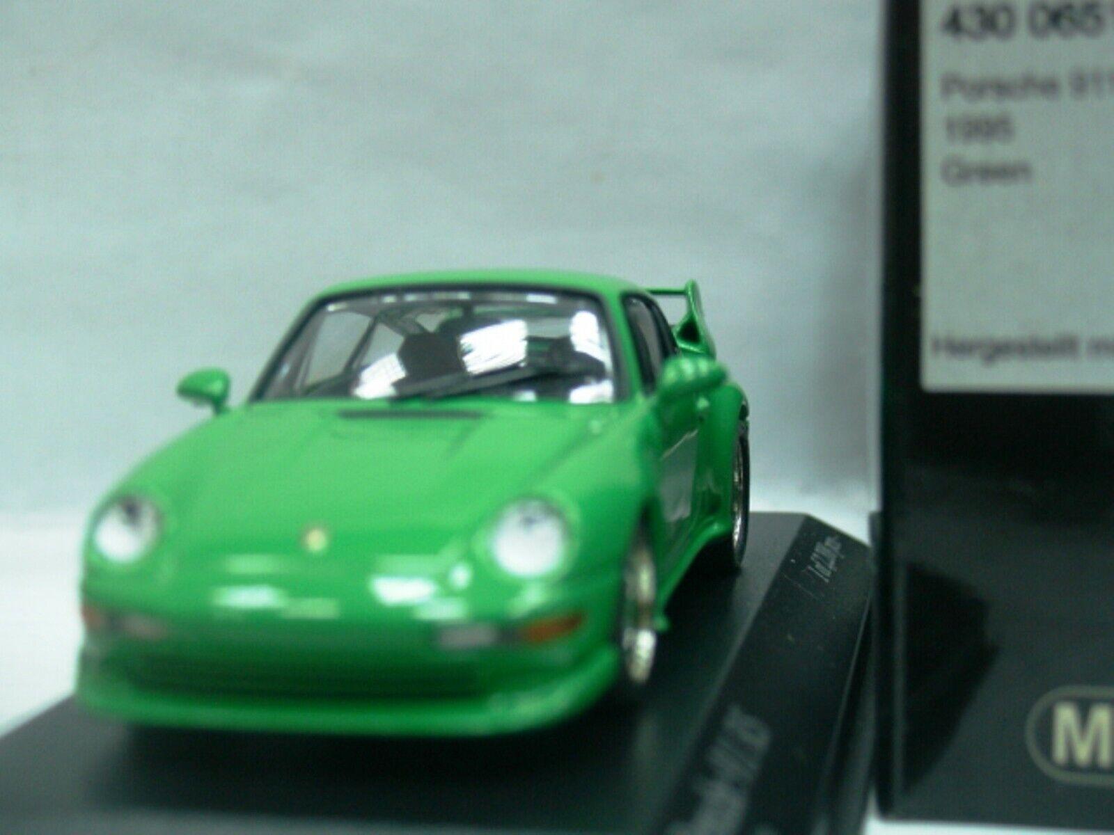 Wow extrêmement rare Porsche 993 911 RS Clubsport 1995 vert 1 43 Minichamps-Spark