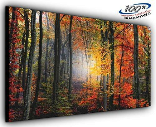 Mystical Forest Panoramic Canvas Wall Art Print Framed XXL 55 Inch X ...