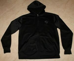 INDEPENDENT TRADING COMPANY Black Fleece-Lined Full Zip Jacket/Sweatsh<wbr/>irt w/Hood