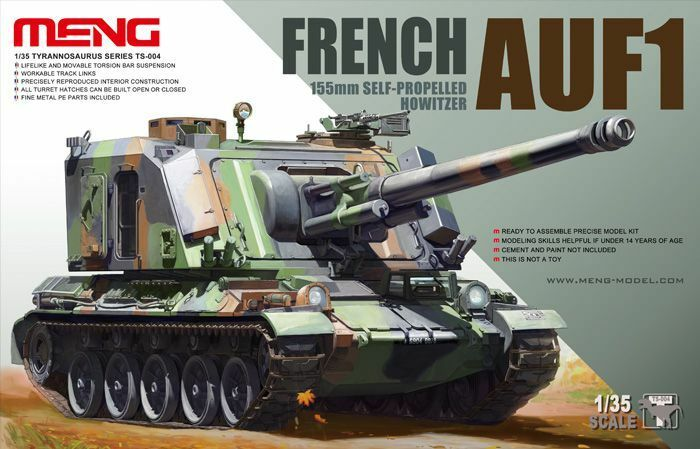 MENG FRENCH AUF1 155mm SELF-PROPELLED OBICE 1 35 TS-004 Francia SERBATOIO