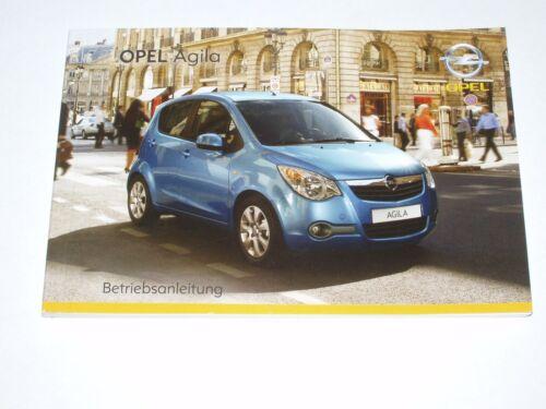 Bedienungsanleitung Opel Agila B #baa0108 neu Ausgabe 01//2008