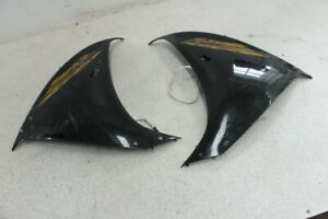 2009-YAMAHA-YZF-R1-RIGHT-LEFT-SIDE-MID-LOWER-FAIRING-COWLS-PAIR