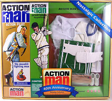 Action Man 40th Anniversary Cricketer Set w/Figure