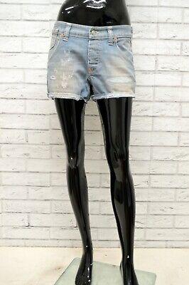 Pantaloncino Cycle Donna Taglia Size 48 Bermuda Shorts Pantalone Corto Woman Blu Né Troppo Duro Né Troppo Morbido