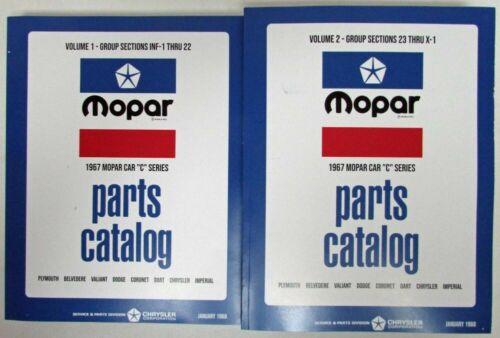 1967 Mopar Car Parts Book Plymouth Dodge Dart Barracuda Charger GTX Repro