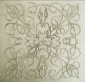 Image Is Loading Stencil Plaster Large Andre Tile Wall