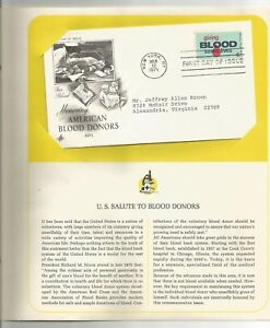 US-Postage-Stamp-1971-03-12-American-Blood-Donors-NY-NYPostmark-First-Day-Cover