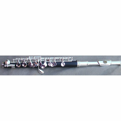 Fast Deliver New Silver Plated Piccolo Outfit Case+stick+clearing Cloth+grease C Key #3567 Piccolos Wind & Woodwind