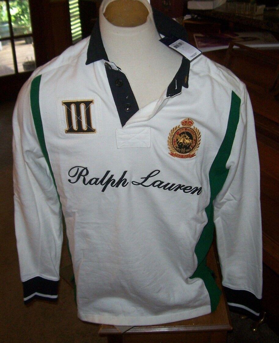 Polo Ralph Lauren long sleeve white polo sweatshirt shirt RL Snow Challenge Cup
