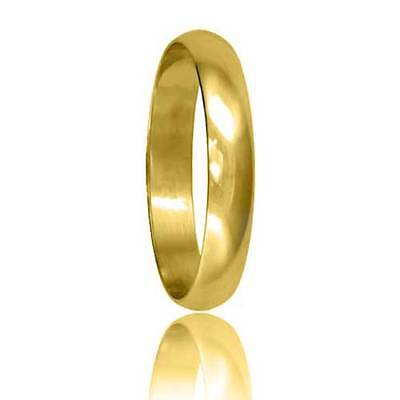 Brand New Hallmarked 9ct Yellow Gold Wedding Ring D Shape Band