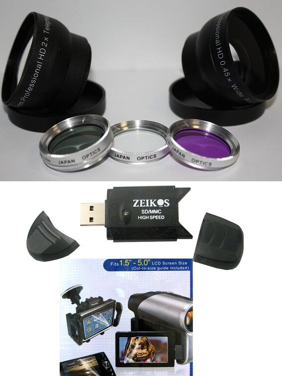 7Pc Super Saving HD Accessory Kit for Sony HDR-XR160