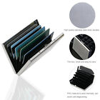 Ultra Thin Stainless Steel Wallets RFID Block Credit Card Wallet Holder &6 Slots