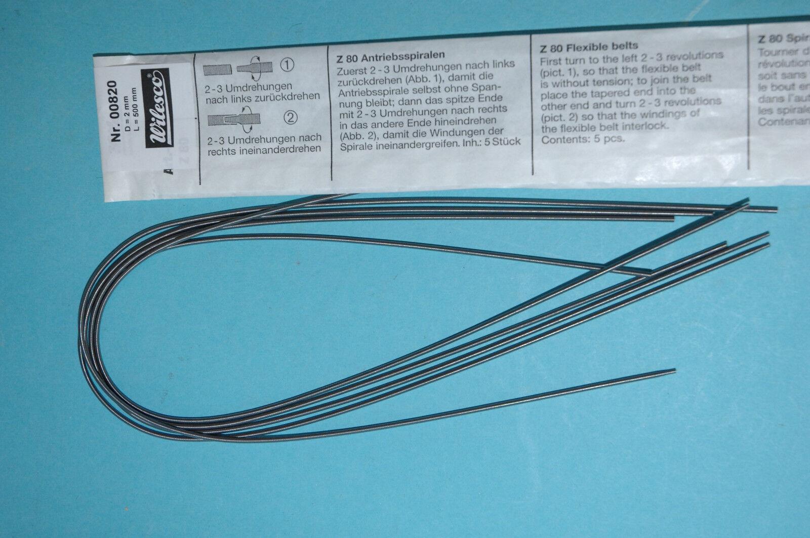 New Toys, Hobbies Wilesco Z80 5 X Flexible Belts 2 Mm X 260 Mm