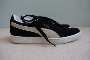 huge selection of 491b0 01663 Details about NEW Puma Suede Classic Unisex Black & Off White Suede  Trainers Sneakers sz 8