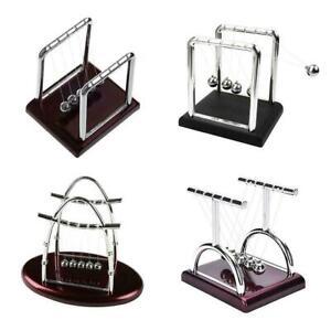 Newton-039-s-Cradle-Desk-Table-Decor-Metal-Pendulum-Ball-Balance-Ball-T4Y2