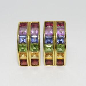Clipstecker-Ohrschmuck-Regenbogen-Steine-mit-ca-2-40ct-in-750-18K-Gelbgold