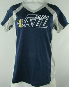 68cc95319bd9 Utah Jazz Women s Hands High NBA Short Sleeve V-Neck T-Shirt