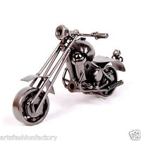 Handmade Retro Metal Motorcycle Sculpture Model, Creative Personalized Decor 38a