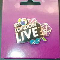 LONDON 2012 OLYMPICS BT LONDON LIVE PIN BADGE