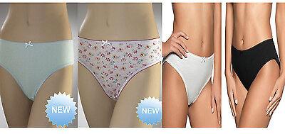 Ladies Cotton Bikini Briefs Pants Women Lingerie Knickers Underwear 3 6 Pair LOT