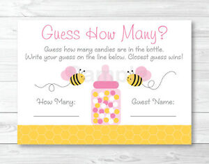 image about Guess How Many in the Jar Printable named Data pertaining to Red Bumble Bee Printable Boy or girl Shower \