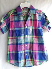 BOYS 5 6 S MULTICOLOR DRESS CASUAL BUTTON S/S SHIRT NWT ~ THE CHILDREN'S PLACE