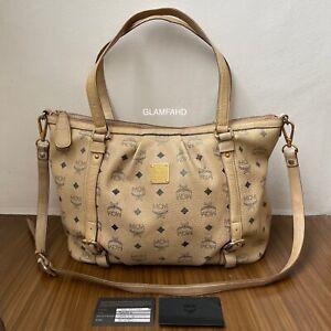Pre-Owned-Authentic-MCM-Shoulder-Bag-Handbag