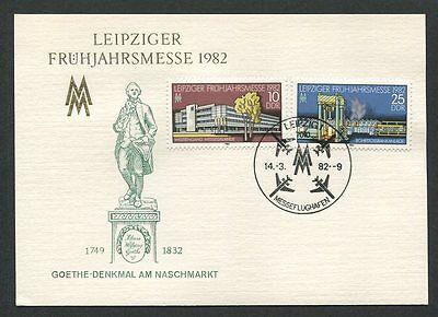 Kraftvoll Ddr Mk 1982 Leipziger Messe Maximumkarte Carte Maximum Card Mc Cm D8616 Angenehme SüßE Briefmarken