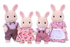 Sylvanian Families Milk Rabbit Family - Father + mother + brother + sister set