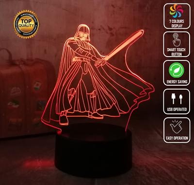 3D Illusion Lamp Star Wars Night Lights R2-D2 Millennium Falcon Death Star