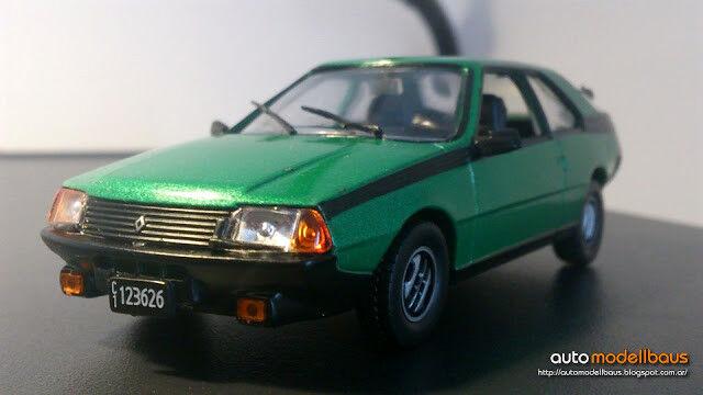 RENAULT FUEGO GTX  2.0 1984 - silverINA DIECAST 1 43