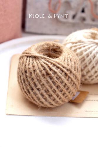 100 g Jute Ficelle Ball juteschnur Marron SISAL FICELLE Halbach Vintage Shabby