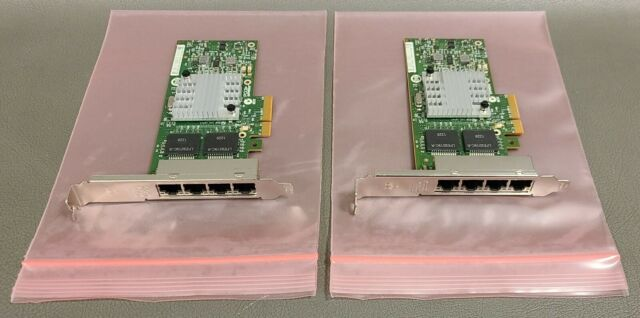 Lot Of 2 IBM Intel I340-T4 49Y4242 49Y4241 4 Port Ethernet PCI Network Adapters