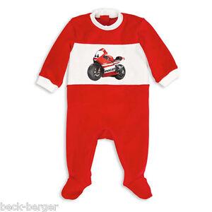 Ducati-Corse-12-Bebe-Pijama-Correpasillos-Mono-Entero-Nicki-Rojo-Blanco-Nuevo