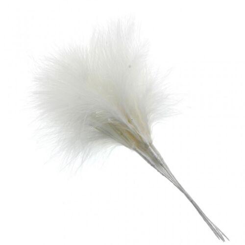 Fluffy Cream Feathers x 6 Wedding Fascinator Bouquet Embellishment