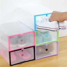 Plastic Wholesale Clear Shoe Boots Boxes Storage Organizer Stackable Bo AGL AJK
