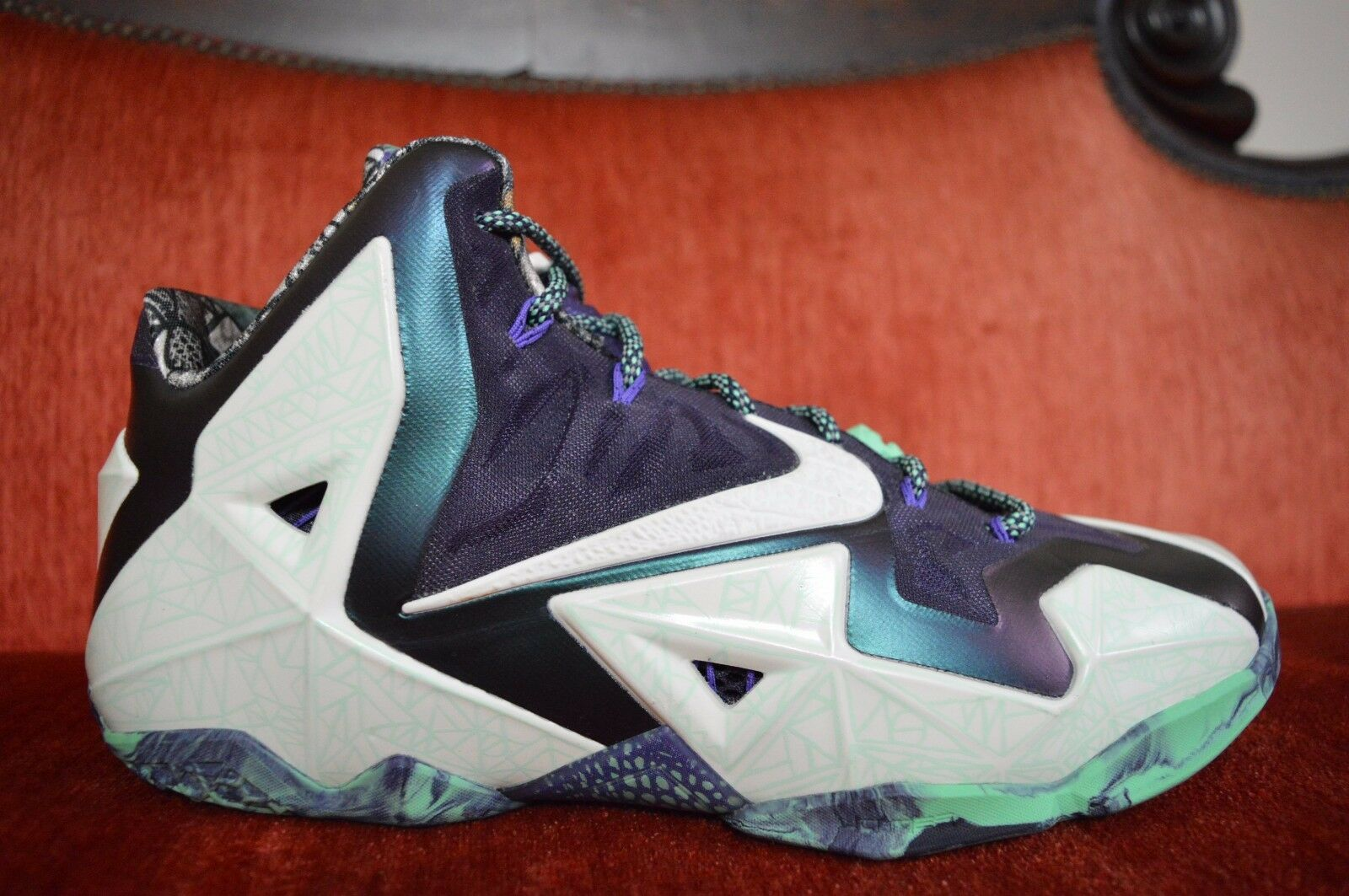 WORN NOLA ONCE Nike Lebron 11 NOLA WORN ASG GUMBO LEAGUE size 11.5 Gator King All Star 14511d