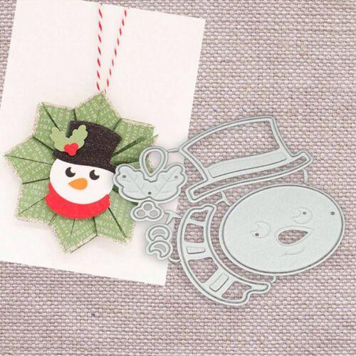 Christmas Snowman Cutting Dies Scrapbook Craft Die Embossing Card Stencil Gift