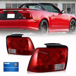 1999 2000 2001 2002 2003 2004 ford mustang red lens tyc. Black Bedroom Furniture Sets. Home Design Ideas