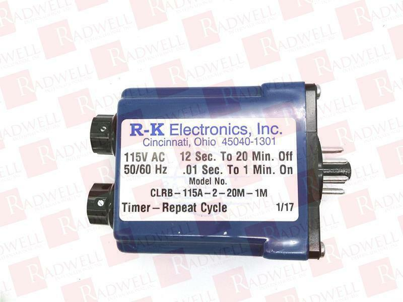 RK ELECTRONICS CLRB-115A-2-20M-1M   CLRB115A220M1M (USED TESTED CLEANED)