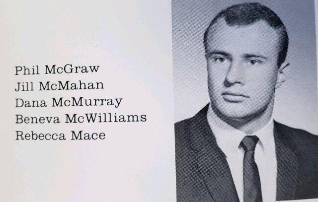 Dr.  Phil McGraw Senior High School Yearbook Oprah Winfrey