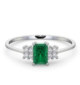 Smeraldo-e-Anello-Diamante-18k-Oro-Bianco-Solitario-Taglio-a-Certificato