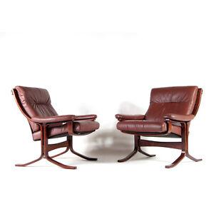 1-of-2-Retro-Vintage-Ekornes-Leather-Easy-Lounge-Armchair-Chair-60s-70s-Danish