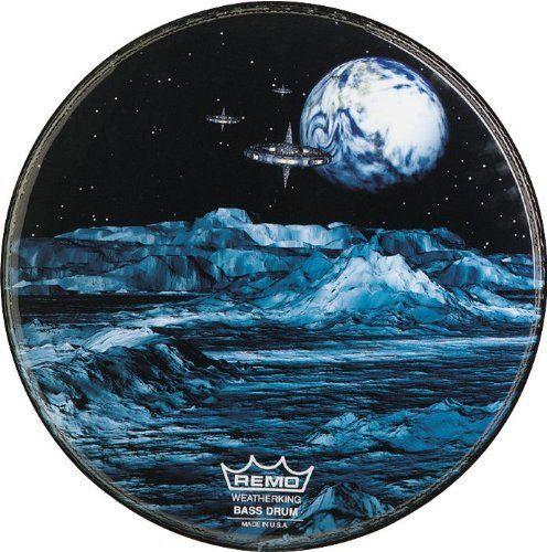 Remo PA1020BM Bass, Grafik, Standard, 20   Durchmesser, 'Blau Mond'