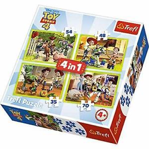 Trefl-4-IN-1-Disney-Toy-Story-4-Puzle-Rompecabezas-en-Caja-Playset-de-Juguete