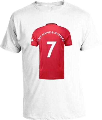 Man Utd FC Shirt Personnaliser Votre Propre T-shirt Adultes /& Enfants Tailles disponibles