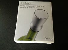New in Box, Set of 2 Wine Preserving Pumps, Remove the air, seal in the flavor.